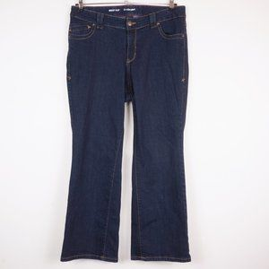 Lane Bryant Boot Cut Jeans Dark Wash Right Fit Red